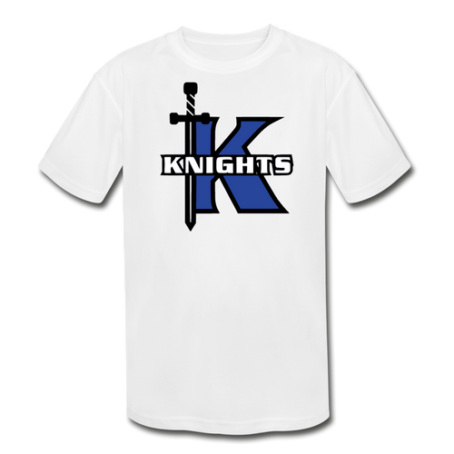 Knights Logo Youth Dri-Fit- Customize Me! - white