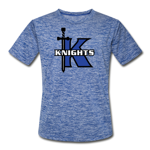 Knights Logo Adult Dri-Fit- Customize Me! - heather blue