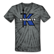 Load image into Gallery viewer, Knights Unisex Tie Dye T-Shirt-Customize Me! - spider black