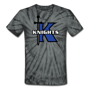 Knights Unisex Tie Dye T-Shirt-Customize Me! - spider black