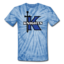 Load image into Gallery viewer, Knights Unisex Tie Dye T-Shirt-Customize Me! - spider baby blue