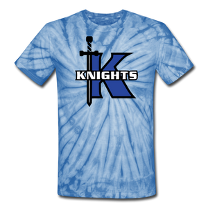 Knights Unisex Tie Dye T-Shirt-Customize Me! - spider baby blue