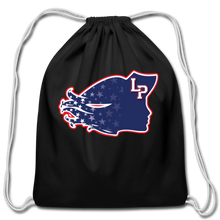 Load image into Gallery viewer, Lady Patriot Cotton Drawstring Bag-Customize Me! - black