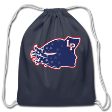 Load image into Gallery viewer, Lady Patriot Cotton Drawstring Bag-Customize Me! - navy