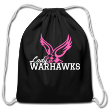 Load image into Gallery viewer, Lady Warhawks Cotton Drawstring Bag- Customize Me! - black