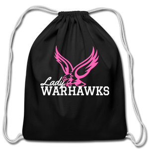 Lady Warhawks Cotton Drawstring Bag- Customize Me! - black