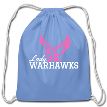 Load image into Gallery viewer, Lady Warhawks Cotton Drawstring Bag- Customize Me! - carolina blue