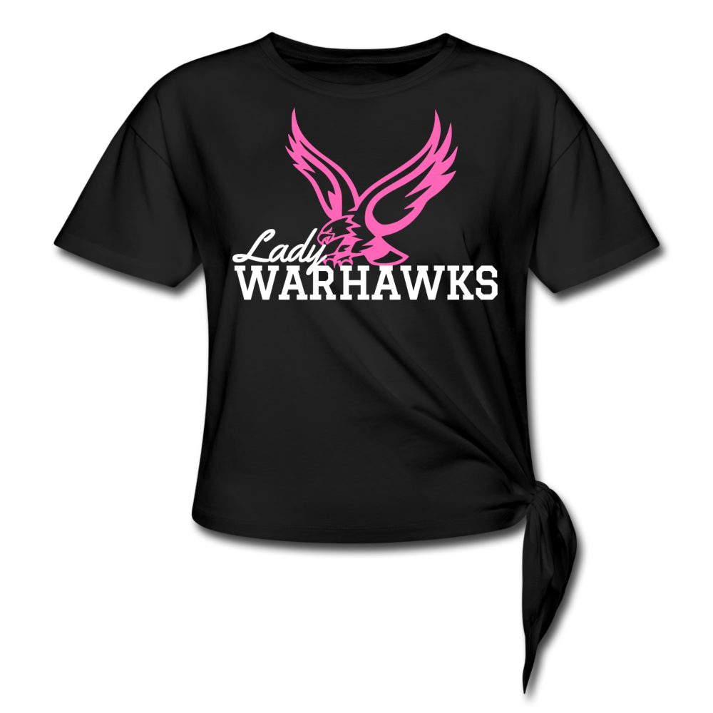 Lady Warhawks Women's Knotted T-Shirt-Customize Me! - black