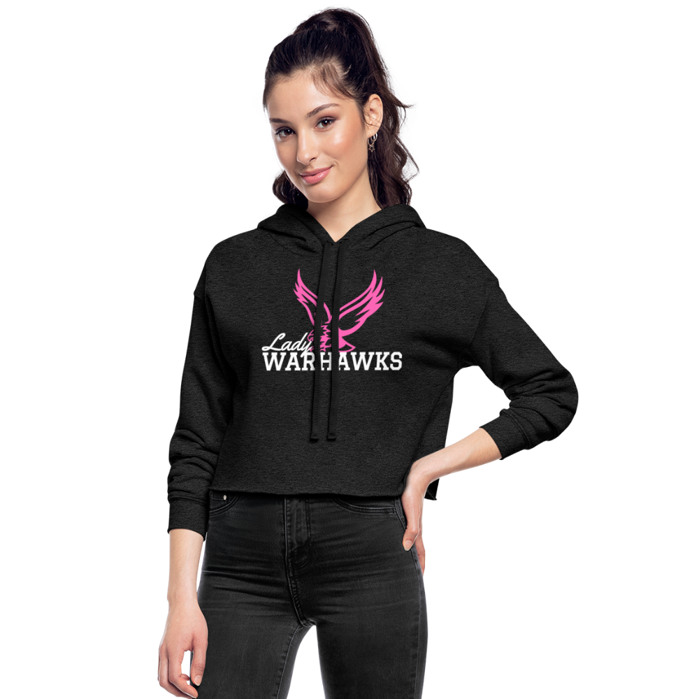 Lady Warhawks Women's Cropped Hoodie-Customize Me! - deep heather