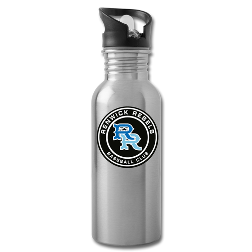 Renwick Rebels Logo Water Bottle-Customize Me! - silver