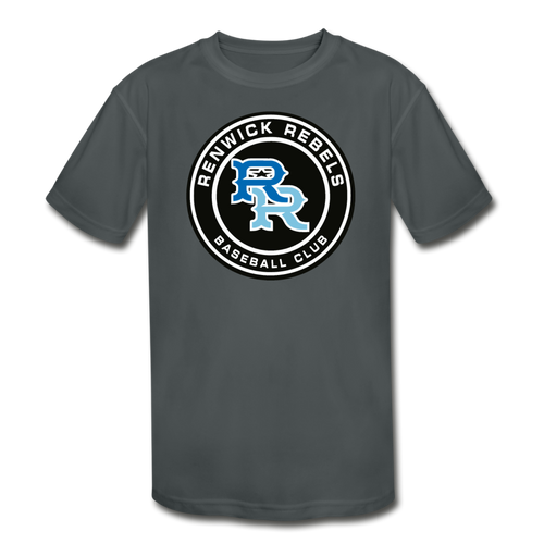 Renwick Rebels Logo Youth Dri-Fit-Customize Me! - charcoal