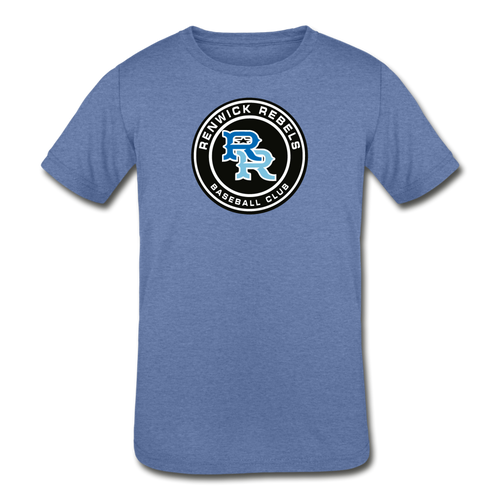 Renwick Rebels Logo Kids' Tri-Blend T-Shirt-Customize Me! - heather Blue