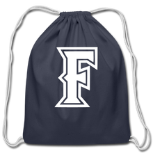 Load image into Gallery viewer, Friendswood Baseball Logo Cotton Drawstring Bag- Customize Me! - navy