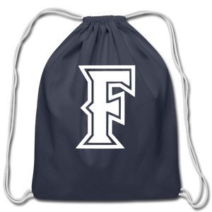 Friendswood Baseball Logo Cotton Drawstring Bag- Customize Me! - navy