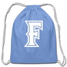 Load image into Gallery viewer, Friendswood Baseball Logo Cotton Drawstring Bag- Customize Me! - carolina blue