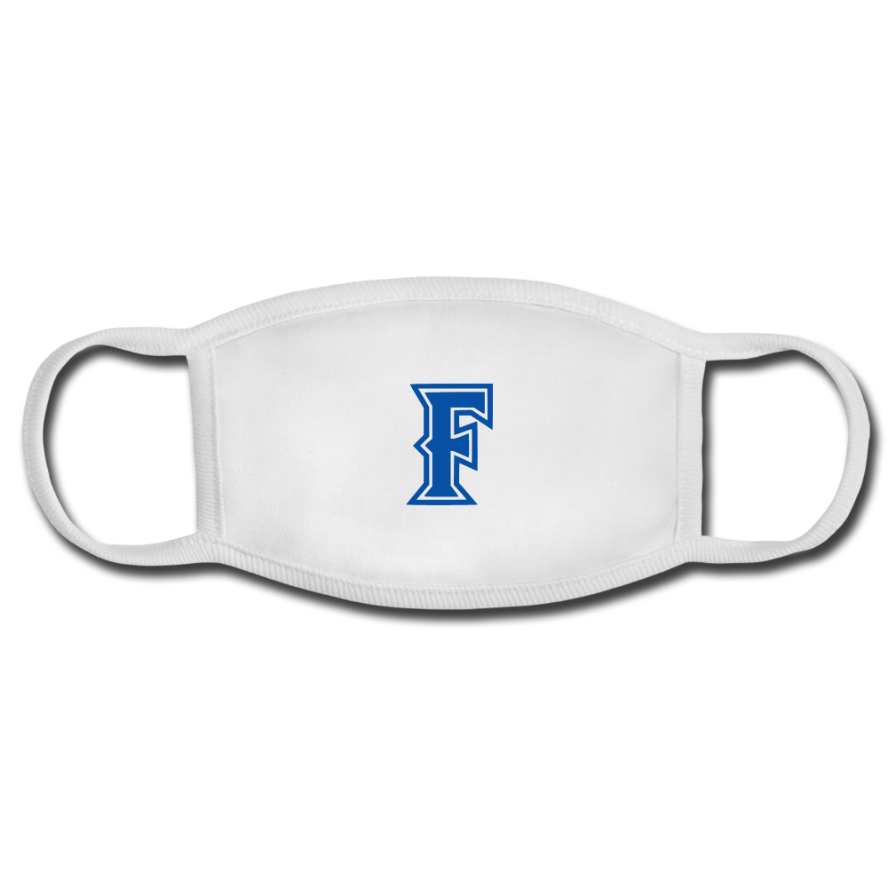 Friendswood Baseball Logo Adult Face Mask - white/white