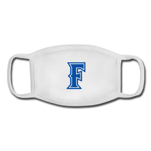 Load image into Gallery viewer, Friendswood Baseball Logo Youth Face Mask - white/white