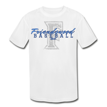 Load image into Gallery viewer, Friendswood Distressed Logo Youth Dri-Fit-Customize Me! - white