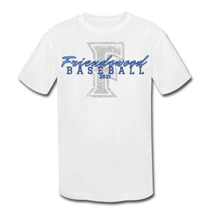 Friendswood Distressed Logo Youth Dri-Fit-Customize Me! - white