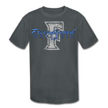 Load image into Gallery viewer, Friendswood Distressed Logo Youth Dri-Fit-Customize Me! - charcoal