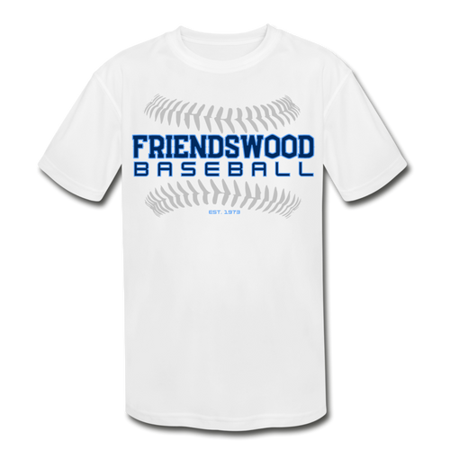 Friendswood Baseball Seams Youth Dri-Fit-Customize Me! - white