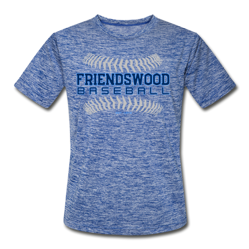 Friendswood Baseball Seams Adult Dri-Fit-Customize Me! - heather blue