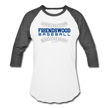 Load image into Gallery viewer, Friendswood Baseball Seams Baseball T-Shirt-Customize Me! - white/charcoal