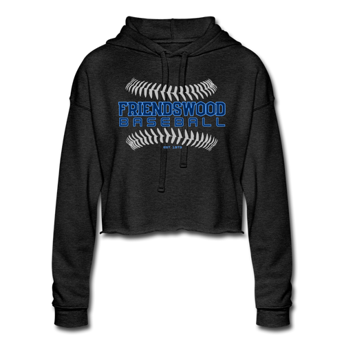 Friendswood Baseball Seams Women's Cropped Hoodie-Customize Me! - deep heather