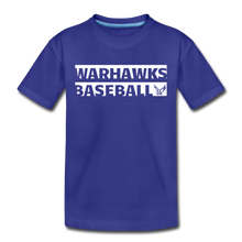 Load image into Gallery viewer, Warhawks Typography Kids' Premium T-Shirt-Customize Me! - royal blue