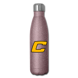C Insulated Stainless Steel Water Bottle-Customize Me! - pink glitter
