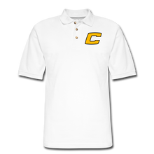 Load image into Gallery viewer, C Men's Pique Polo Shirt - white