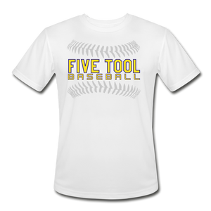Five Tool Seams Adult Dri-Fit-Customize Me! - white