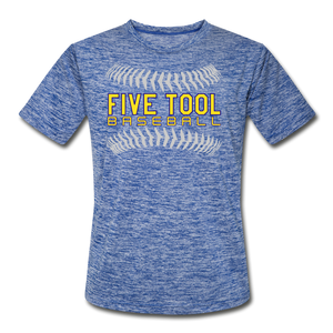 Five Tool Seams Adult Dri-Fit-Customize Me! - heather blue
