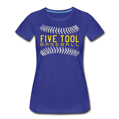 Five Tool Seams Women's Premium T-Shirt-Customize Me! - royal blue