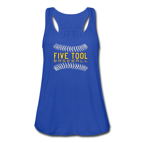Five Tool Seams Women's Flowy Tank Top by Bella - royal blue