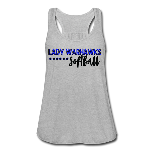 Lady Warhawks Softball Script Women's Flowy Tank Top by Bella - heather gray