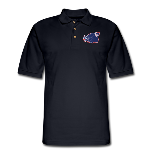 Lady Patriots Logo Men's Pique Polo Shirt - midnight navy