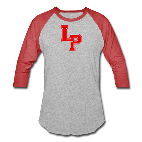 LP Baseball T-Shirt - heather gray/red