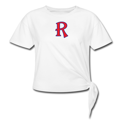 Renegades Logo Women's Knotted T-Shirt - white