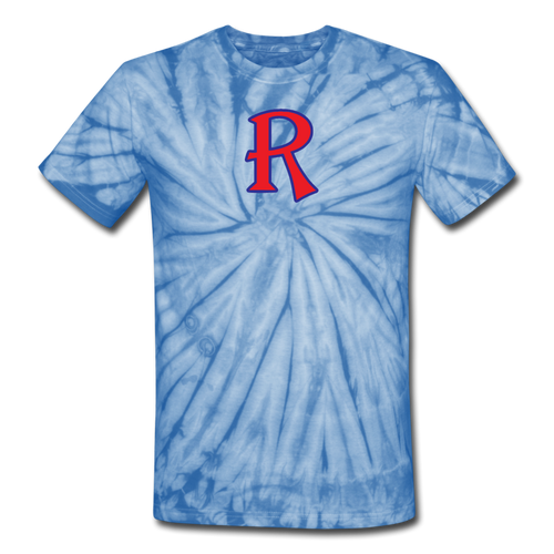 Renegades Logo Unisex Tie Dye T-Shirt-Customize Me! - spider baby blue
