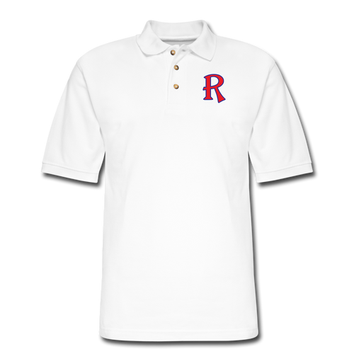 Renegades Logo Men's Pique Polo Shirt - white