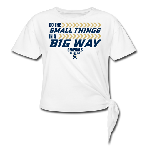 Generals Big Way Women's Knotted T-Shirt- Customize Me! - white