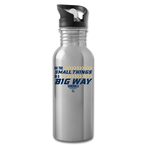 Generals Big Way Water Bottle-Customize ME! - silver