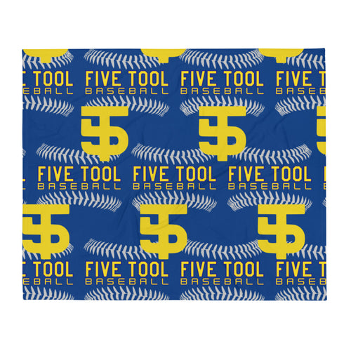 Five Tool Seams Throw Blanket