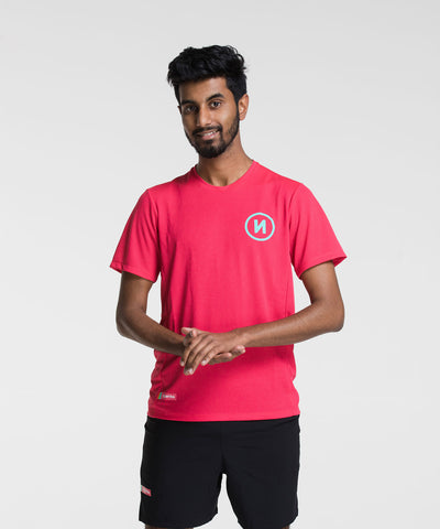 Main Beach Tee - Raspberry
