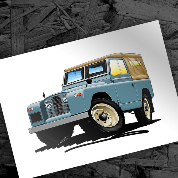 New Caricature - Land Rover Series 2
