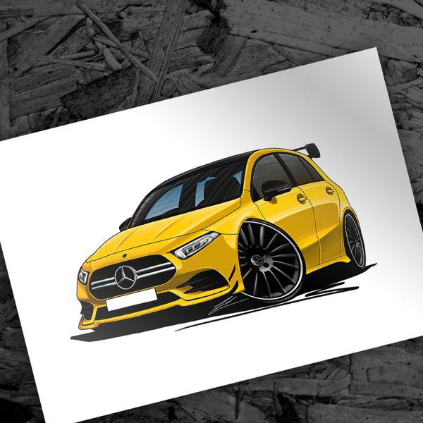 New Caricature - Mercedes A35 AMG
