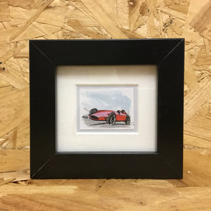 Vintage Racer (056) - Miniature Framed Sketch