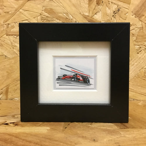 Formula Racer (061) - Miniature Framed Sketch