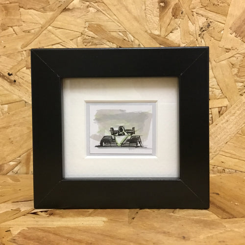 Formula Racer (068) - Miniature Framed Sketch